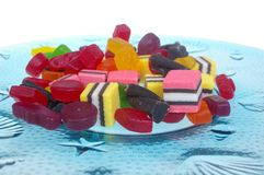 Jelly lollies licorice Royalty Free Stock Images