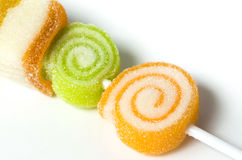 Jelly lollipop Stock Images