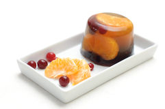 Jelly with mandarin orange Stock Photos