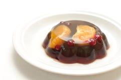 Jelly with mandarin orange Stock Photography