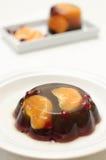 Jelly with mandarin orange Royalty Free Stock Images