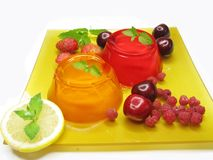 Jelly marmalade fruit desserts Stock Photo