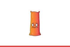 Jelly Monster Sad bonito Foto de Stock