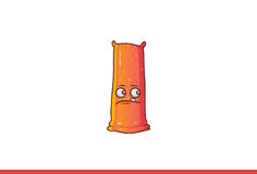 Jelly Monster Sad mignonne Photo stock