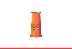 Jelly Monster Sad mignonne Photos libres de droits