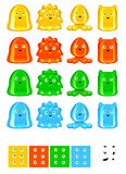 Jelly Monsters Stock Photo