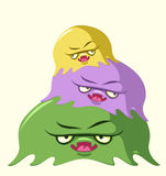 Jelly monsters. Funny illustration of colorful jelly monsters Royalty Free Stock Photos