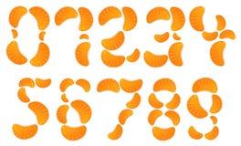 Jelly Numbers alaranjada Foto de Stock Royalty Free