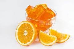 Jelly orange dessert Royalty Free Stock Image