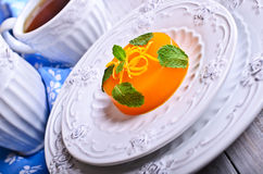 Jelly orange Royalty Free Stock Image