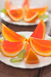 Jelly Orange Slices On A Plate. Stock Photography