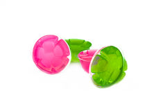 Jelly Pink and Green royalty free stock photography