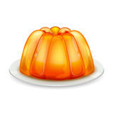 Jelly on Plate royalty free illustration
