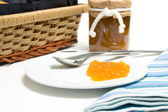 Jelly on a plate Stock Photography