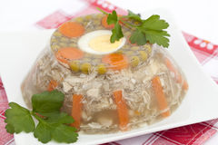 Jelly with pork Stock Images