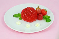 Jelly pudding brain dessert Royalty Free Stock Photography