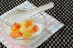 Jelly Pudding Fruit Salad Stock Photography
