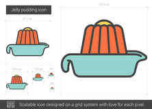 Jelly pudding line icon. Jelly pudding vector line icon isolated on white background. Jelly pudding line icon for infographic, website or app. Scalable icon royalty free illustration