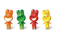 Jelly rabbit set Stock Photography