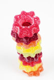 Jelly rings on white background Stock Image