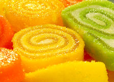 Jelly roll. Fruit jelly roll as a background stock image