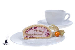 Jelly roll cake Stock Image