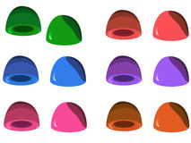 Jelly set in six colors Royalty Free Stock Image