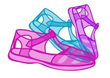 Jelly shoes Royalty Free Stock Photos