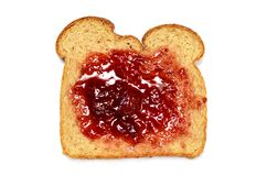 Jelly spread slice Royalty Free Stock Images