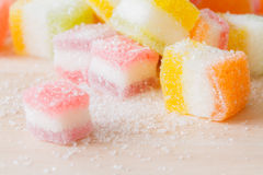 Jelly squares multicolored Stock Photo