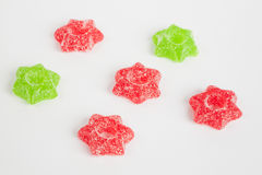 Jelly stars, red, green Royalty Free Stock Photo