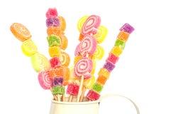 Jelly sticks. On white background Royalty Free Stock Photos