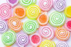 Jelly sugar candies. On white background Stock Image