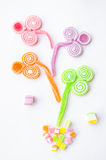 Jelly sugar candies Stock Photos