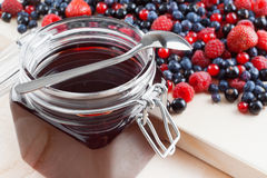 Jelly from summer berries Stock Images