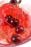 Jelly sweet cherry background Stock Photos
