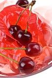 Jelly sweet cherry background Stock Photos