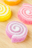 Jelly sweet, flavor fruit, candy dessert colorful. Royalty Free Stock Image