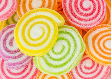Jelly sweet, flavor fruit, candy dessert colorful. Royalty Free Stock Images