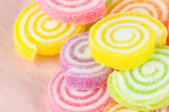 Jelly sweet, flavor fruit, candy dessert colorful. Royalty Free Stock Photo