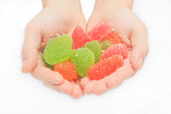 Jelly sweet, flavor fruit, candy dessert colorful on sugar. Royalty Free Stock Photo