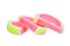 Jelly sweet, flavor fruit or candy dessert colorful with sugar Stock Photos
