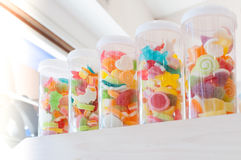 Jelly sweet, flavor fruit, candy dessert colorful on sugar Royalty Free Stock Image