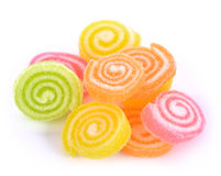 Jelly sweet, flavor fruit, candy dessert colorful on sugar. Royalty Free Stock Photography