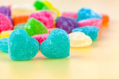 Jelly sweet hearts candy. Concept for Valentines day Royalty Free Stock Image