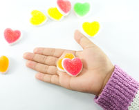 Jelly sweet love Royalty Free Stock Image