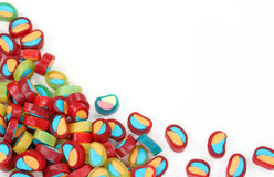Jelly sweets. Isolated on white background Royalty Free Stock Photo