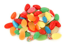 Jelly sweets. Isolated on white background Stock Photos