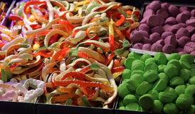 Jelly sweets. The colored fruit jelly sweets Stock Image