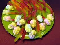 Jelly sweets Stock Images